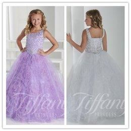 Wholesale Square Dances Dresses - Dream Mauve 2016 New Square Sequins Beaded Bodice Tulle A-line Little Girls Pageant Dresses Party Dance Prince Dress