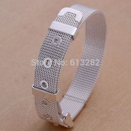 Wholesale Cadmium Jewelry - Wholesale-Free shipping!!! Jewelry Bracelet,Female Jewelry, Brass, real silver plated, nickel, lead & cadmium free, 14mm