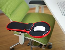 Wholesale Computer Chairs Ergonomic - New Top Ergonomic Memory Foam Armrest Mouse Pad Rotatable Adjustable Computer Desk & Chair Extender Armrest Wrist Rest for Home&Office relax