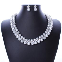 Wholesale America Bridal - N2572 Europe and America Fashion luxury Imitation pearls diamond necklace ,Bridal necklace +earring sets