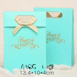 Wholesale Large Sweet Boxes - Caedboard Paper Box 13.4*10*4cm 30PCS LOT Blue Large Sweet Wedding Candy Package Gift Paper Packaging Boxes