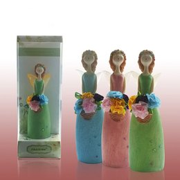 Wholesale Ceramic Dolls - Ceramic Doll Reed Diffuser Natural Scents Essential Oils & Synergies Aroma Diffuser With Cotton Flower For Fragrance Diffuser Code : 83-1010