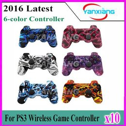 Wholesale Electric Shock Games - Electric current Wireless Gamepad Bluetooth Game Controller For PS3 Choices 10pcs YX-PS3-01