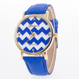 Wholesale Geneva Stripes Watch - New Casual Dress women Watches suitable Stripes Watch PU Leather Woman Man Quartz Wrist wristwatches Geneva Girls Clocks relogios gifts