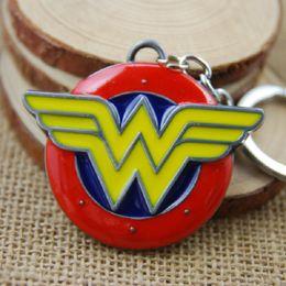 Wholesale Wholesale Red Feathers - Movie Series Key Chain Wonder Woman Keyring Keychain for Keys Chaveiro Llavero Key Ring Key Holder porte F-0169