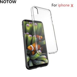 Wholesale Blank Iphone Case Dhl - High quality Clear Soft TPU Case Transparent Crystal Cover Silicone gel Blank Skin Cell phone Luxury Shell for iphone x 100pcs DHL