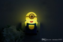Wholesale Minion Christmas Lights - New Lovely Minion Cute Light Control Led Night Lamp Led Lamp 220v Smart Lamp for Kids Christmas Gift Night Led Light Bulb
