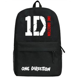 Wholesale Music School Bag - One direction backpack Music band school bag 1D daypack Hot schoolbag New game play day pack