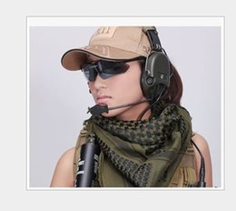Wholesale Hijab Cotton Shawl - Tactical Military windproof Muslim Hijab Shemagh Desert Arabic Keffiye Airsoft Shemagh Kafiya Scarf Mask green
