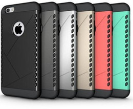 Wholesale Aegis Case - Mode Rüstung Fall für Apple iPhone 6 6 S 4,7 zoll Hybrid TPU + PC Stoßfest Aegis Zurück Cover Handy-schutzhülle Fällen