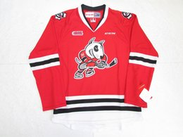 Wholesale Dog 4xl - Cheap custom NIAGARA ICE DOGS OHL RED CCM PREMIER 7185 HOCKEY JERSEY Mens Throwback jerseys