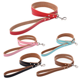 Wholesale Leather Dog Leashes Harnesses - Sturdy leather Dog Leash Genuine cowhide leather for cats small medium large dogs durable cowhide leash support leather dog collars harness