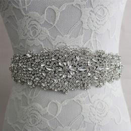 Wholesale Sash Rhinestone Crystal Belt - Handmade Beaded Crystal Wedding Bridal Sash New 2017 Luxurious Satin Wedding Belts Hot Selling Bridal Sashes