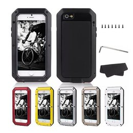 Wholesale Gorilla Waterproof Case - For Samsung Note 8 S8 PLUS Extreme Aluminum Silicone Gorilla Glass Waterproof Fingerprint Cover Case for iphone X 8 7 6s 6 plus retail pack