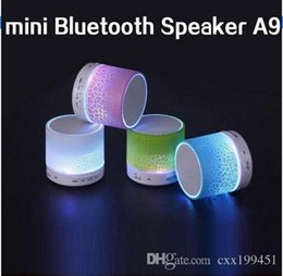 Wholesale Tablet Pc For Sale - Original A9 Bluetooth Speaker Portable Wireless New High Quality For Smartphone Tablet PC Sale Travel for Insert TF card Udisk