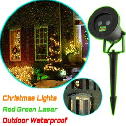 Wholesale Laser Star Light Show - Hot Outdoor waterproof Red and Green laser light Stage Lights projector for Swimming pool garden Yard decorations effect Show stage lighting