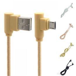 Câble micro USB tressé type C à angle droit 2A Câble chargeur rapide 1M 2M 3M Câble connecteur à 90 degrés pour Smartphone ? partir de fabricateur