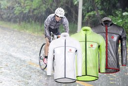 Wholesale Mens Cycling Jacket Xl - 2016 Windproof Waterproof Cycling Raincoat Womens or Mens Bike Raincoats Bicycle Clothing Summer long Sleeves Cycling Jackets Jerseys