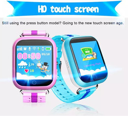 Wholesale Korean Wear Wholesale - Q100 Q750 Bluetooth child Smartwatch with WiFi GPS AGPS LBS BDS for iPhone IOS Android Smart Phone Wear Clock Wearable Device Smart Watch