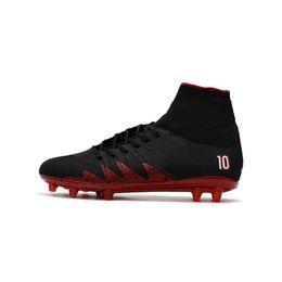 Wholesale Mens Burgundy Boots - 2017 Newest Hypervenom Phantom II FG Neymar X JR Black Red Soccer Cleats Mens Fashion Indoor Boots Shoes
