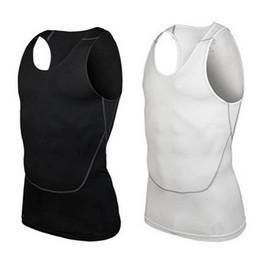 Wholesale Tight Tank Top Undershirt - Wholesale-Men's Gym Sports Basketball Jersey Training Vest Tank Top Quick-dry Bodybuilding Vest Tights Tops Undershirt