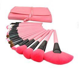 Wholesale Make Up Brushes 24pcs Pink - High quality Original MAKE-UP FOR YOU Professional 24pcs Makeup Brush Set Kit Makeup Brushes & tools Make up Brushes Set Case