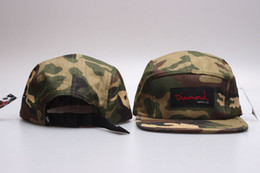 Wholesale camo panels - 2016 camo 5 panel snapback baseball cap hip hop strapback diamond supply co men summer winter spring outdoor hats bone aba reta toca
