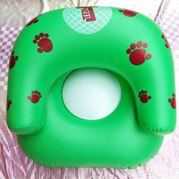 Wholesale Thickening Sofa - Kids PVC Inflatable Sofa Children Playroom Palm prints Couch Chair Seats Inflatable Air Sofa Minnie car inflatable toy Cartoon Thicken Seat