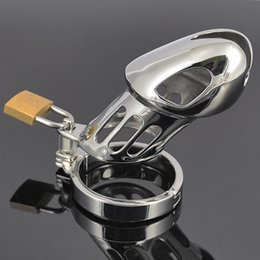 """Wholesale Metal Cb Device - CB male chastity belt stainless steel metal chastity devices for men chastity cage 80mm length cock cage 3"""""""