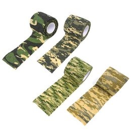 Wholesale Camo Scope - Hot 5cmx4.5m Army Camo Outdoor Hunting Shooting Scope Mounts Tool Camouflage Stealth Tape Waterproof Wrap Durable LN-T01