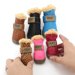 pet shoes for small dogs Promo Codes - Working Dogs Winter Snow Boots Casual Dog Shoes Pet Shoes for Teddy Bichon Kitten Dachshund Cocker Spaniel Husky German Shepard