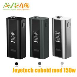 Wholesale Electronic Temp - 100%origina Joyetech Cuboid 150W TC electronic cigarettes box mod with Temp Control Fit Joyetech Cubis atomzier SS316 Coil Sub Ohm vape