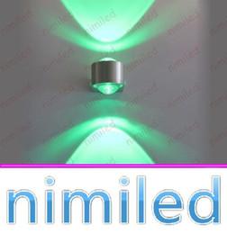Wholesale led lights for backdrop - nimi946-1 LED 2*1W 2W Wall LED Sconces Fixture Spotlights Lights Backdrop Light Lighting Lamps For Aisle Balcony Home Living Room Bedroom