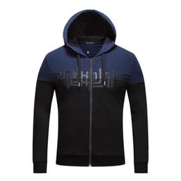 Wholesale 2xl Mens Casual Zip Jackets - Mens hoodies jackets designs full zip hoodie mens winter clothes hoody jacket men luxury brand sweatershirt men D26