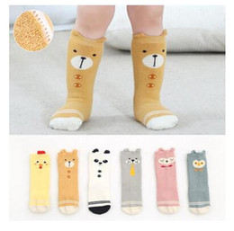 Wholesale Legging Stocking Kids - Baby Socks Cat Knee High Unisex Newborn Anti-slip Stocking Warm Socks Girl Boy Kids Children Socks Christmas Gifts Leg Warmers Free Shipping