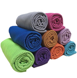 Wholesale Cool Neck Tie - Multicolor 90*35cm double layers ice Cold Towels summer Exercise Sports Ice Cool Towel Hypothermia Cooling Scarf Ties Neck Scarves