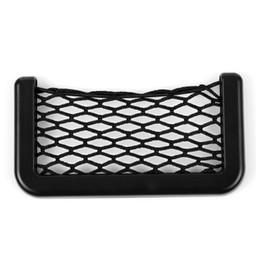 Red de la bolsa de la puerta online-3M Adhesivo Car Styling Net Organizador Asiento de Coche Puerta Lateral Soporte para Teléfono Bolsa de Almacenamiento Auto Creativo
