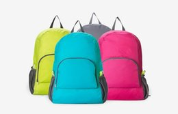 Wholesale travel weights - Colors Outdoor Travel Portable Bags Folding Outdoor backpack Weight Backpack Sports Bag Riding Skin Bag Storage Backpack