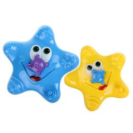 Wholesale Starfish Cartoon - New baby Bath Toys cartoon kids starfish Bathing Swimming Water spray toys wind up water C2881
