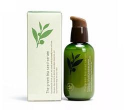 Wholesale Green Bottle Lotion - Innisfree The Green Tea Seed Serum Moisturizing Essence Cream Korea Brand Moisturizing Lotion Green Bottle 80ML