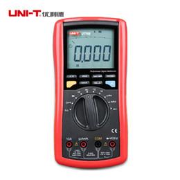 Wholesale Test Transistor Lcd - Wholesale-UNI-T UT70B LCD Digital Multimeter frequency conductance logic test transistor temperature analog display