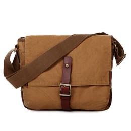 Wholesale Military Laptop Messenger Bag - Vintage Military Cotton Canvas Messenger Bag Shoulder Crossbody Satchel Bag Bookbag Laptop Bag Working Bag for Men and Women 603323