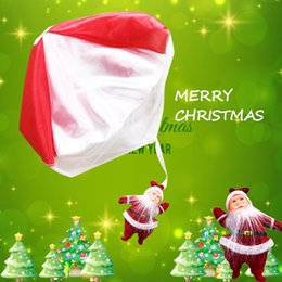 Wholesale Christmas Parachute Santa - 2017 Lovely Hand Throwing Kids Parachute Toys Kids Christmas Santa Claus Outdoor Sports Children Educational Toys Christmas Gift