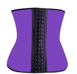 Wholesale Latex Waist Shapers Wholesale - Sexy Latex Vest Corsets and Bustiers PLUS SIZE S-XXL Hot Shapers Waist Training Corset Top Ann Chery Waist Cincher Bodysuit Women TOP1436Z