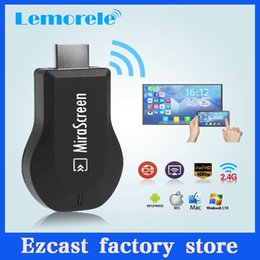 Wholesale Google Dlna Stick - MiraScreen 2.4G TV Stick Better Than EZCAST Wi-Fi Display DLNA Airplay Miracast Free shipping