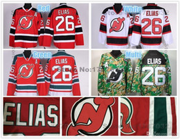 Wholesale Best New Homes - 2016 New, Best Quality #26 Patrik Elias New Jersey Devils Hockey Jerseys Home Red White Camo Authentic NJ Devils Jersey Stitched A Pat