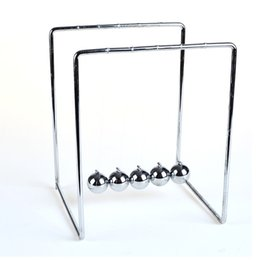 Wholesale Silver Law - Newton Cradle Ball Desk Ornaments Science Toys ( law of conservation of kinetic energy )
