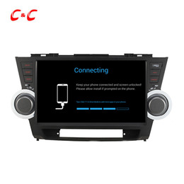 Wholesale Toyota Highlander Gps Dvd Player - Quad Core HD 1024*600 Android 5.1.1 Car DVD Play forToyota Highlander with GPS Navigation Radio Wifi Mirror link DVR