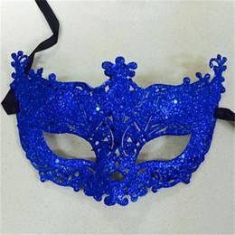 Vente en gros- 1Pc Masquerade Performance Demi Face Renard Paillettes Dentelle Masque Princesse Venise Masque Halloween Fête de Noël Balle Masque VDY46 P30 ? partir de fabricateur