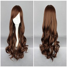 Wholesale Light Brown Lolita Wig - High Quality 70cm Light Brown Lolita Zipper Classical Wavy Curly Cosplay Wig Free Shipping by ePacket